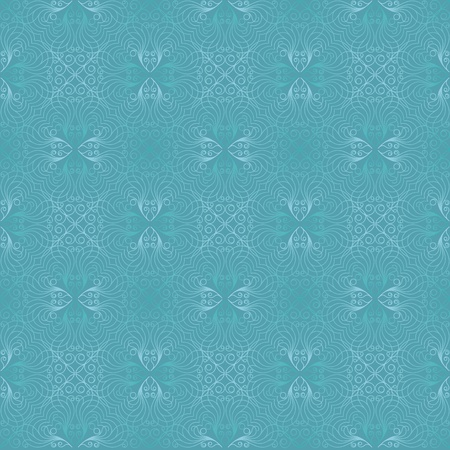 seamless damask in blue  Vector