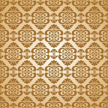 gold leafs: seamless pattern with floral ornaments