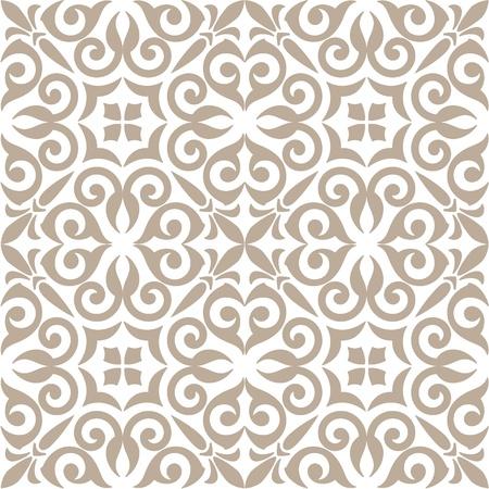 pattern: naadloze patroon met florale ornamenten