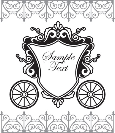 invitation design with fairytale carriage Stock Vector - 10108922