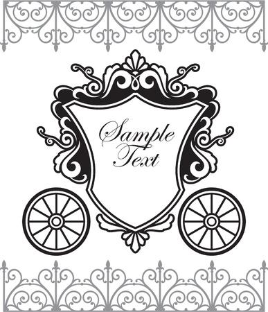 carriage: progettazione di invito con carrello fairytale