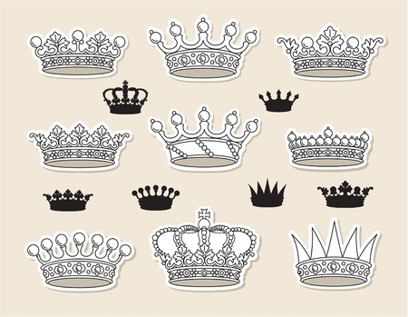 royal crown: set vector crowns