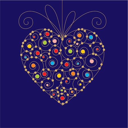 vector greeting card with heart Stock Vector - 10652399