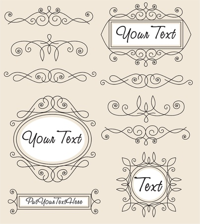 vector set vintage ornament