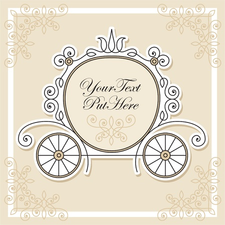 vector wedding invitation design Stock Vector - 10652405