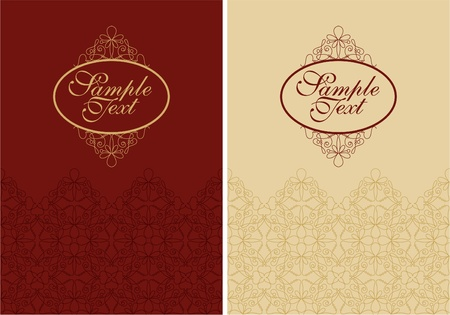 restaurant interior design: vector filigree cover design