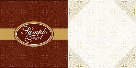 vector cover and page design in chocolate Vector