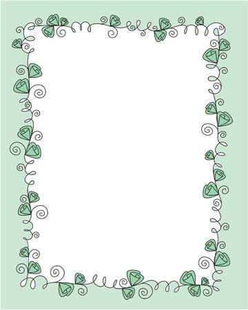 friso: dise�o de marco de vectores con rosas Vectores