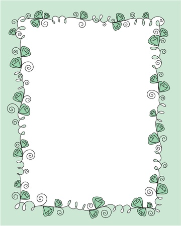 vector frame design with roses