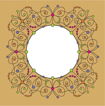 decorative frame with butterfly Vector