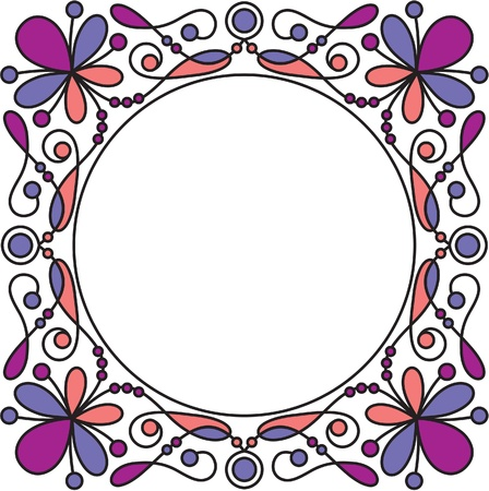 decorative frame with floral elements Stock Vector - 10798920