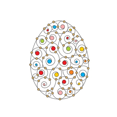 vector easter card with easter egg Vector