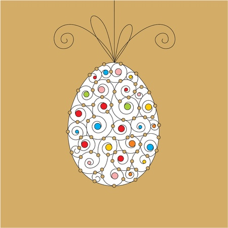 vector greeting card with easter egg Stock Vector - 10798927