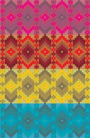 mexican art: vettore messicano fregio etnica Vettoriali