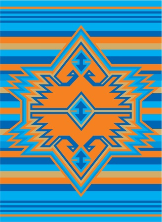 ethnic pattern: vector mexican ethnic cover design
