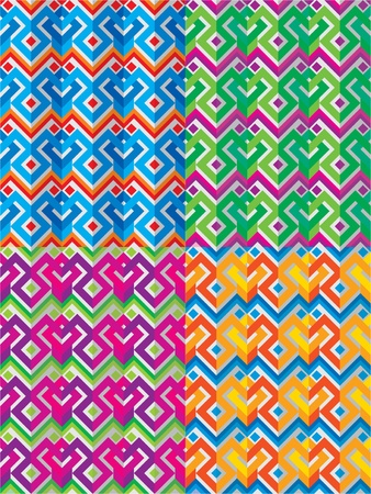 vector mexican ethnic seamless pattern Illustration