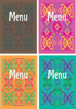 national cultures: vector mexican menu cover design