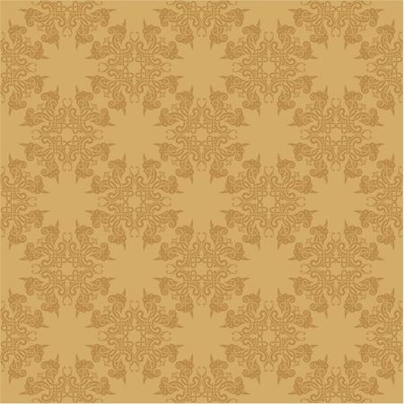 vector seamless baroque wallpaper Vector