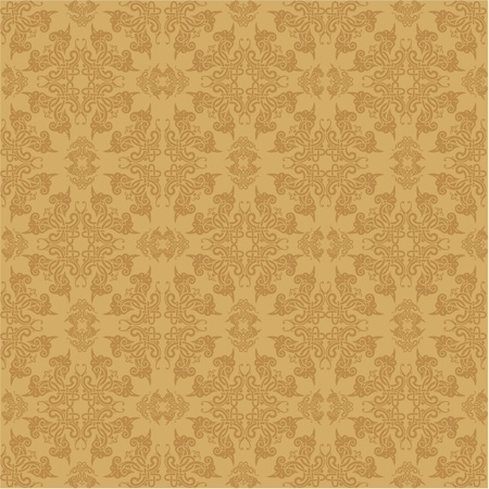 vector seamless baroque wallpaper Stock Vector - 10798943