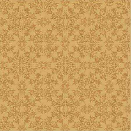 vector seamless baroque wallpaper Stock Vector - 10798943