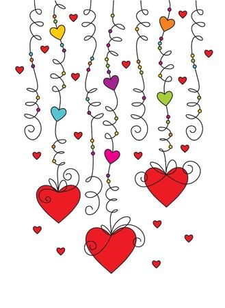 holiday garland: valentine greeting card 01