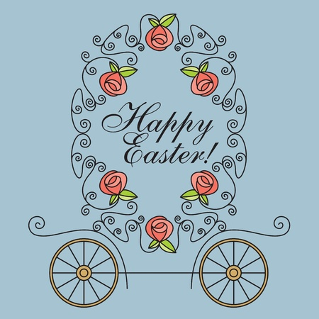 greeting vector card with carriage Vector