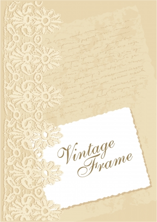 vintage background with photo frame Stock Vector - 14851224