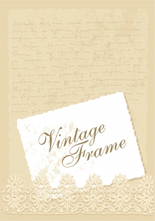 vintage background with photo frame Illustration