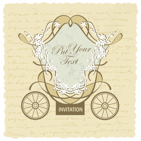 wedding carriage invitation design