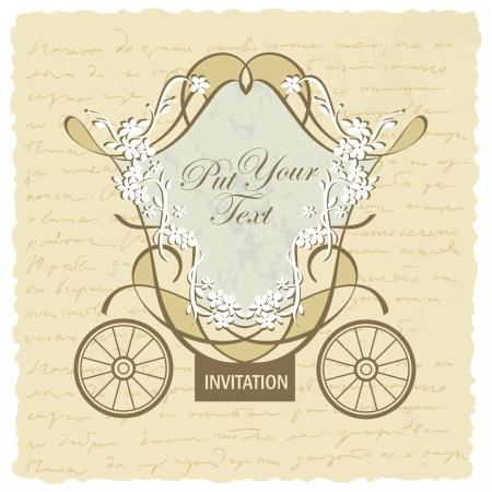 wedding carriage invitation design Stock Vector - 14888922