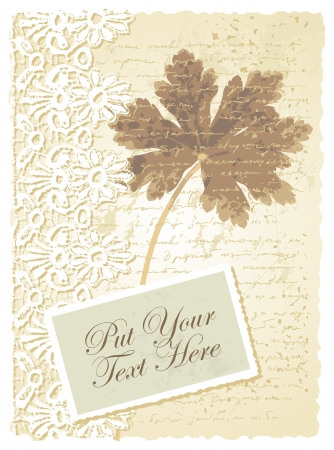 romantic card with geranium Vector