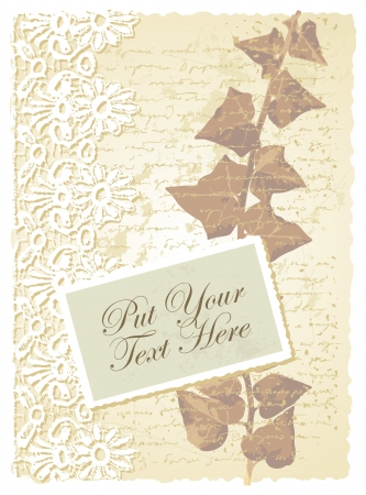 romantic card with ivy Vector