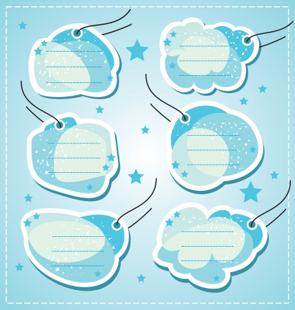 set vector baby boy blank tags Vector