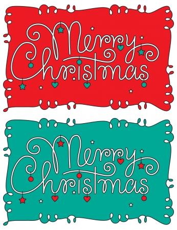 typography signature: Feliz Navidad letras mano