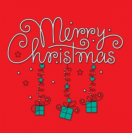 typography signature: merry christmas hand lettering