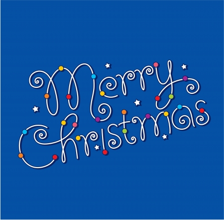 merry christmas hand lettering Stock Vector - 16186274