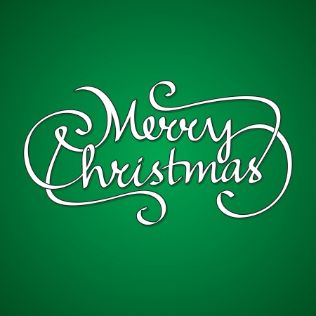 merry christmas hand lettering Stock Vector - 16568700