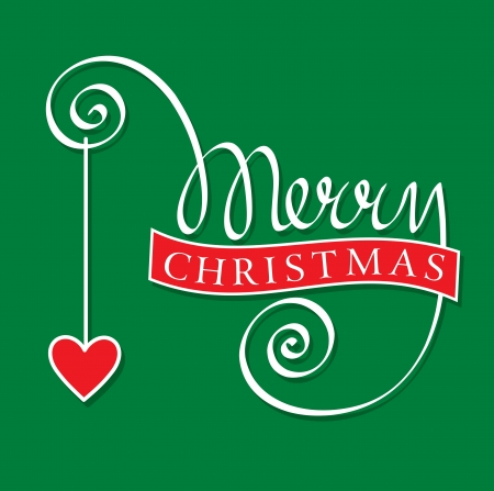 merry christmas hand lettering Stock Vector - 16569021