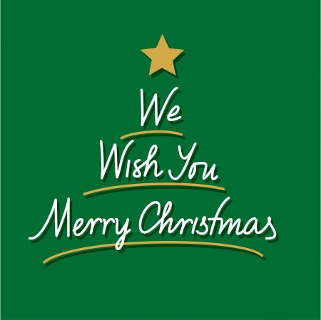 we: we wish you merry christmas hand lettering