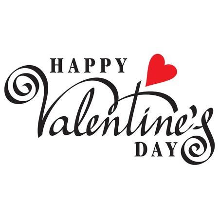 Happy Valentine Day Hand Lettering Royalty Free Cliparts Vectors
