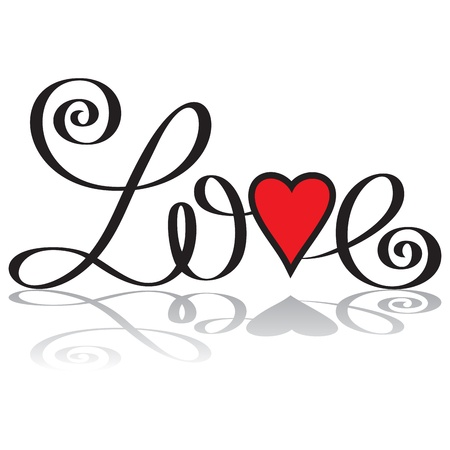 love hand lettering Stock Vector - 17357782