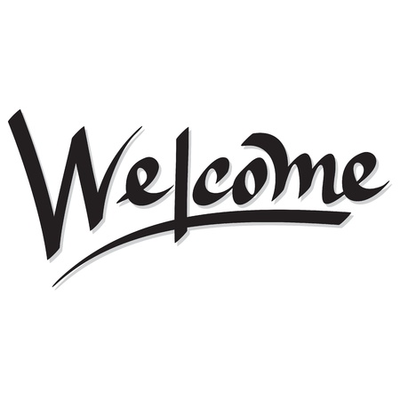 hand lettering welcome Illustration