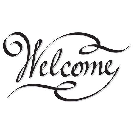 sentiment: hand lettering welcome Illustration