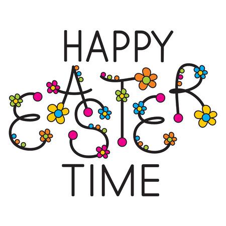 typography signature: happy Easter time headline