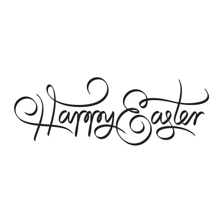 happy easter hand lettering handmade calligraphy Stock Vector - 26335808