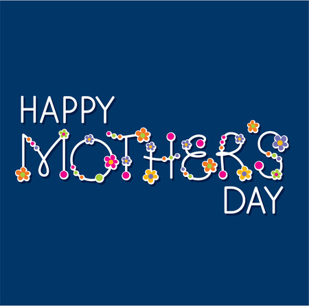 vector happy mothers day hand lettering headline Illustration