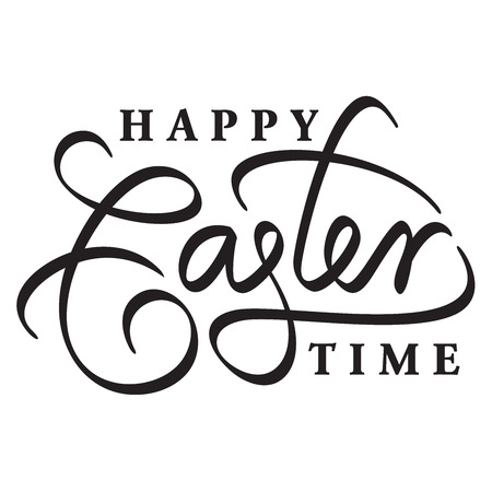 typography signature: happy easter hand lettering handmade calligraphy