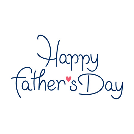 happy fathers day hand lettering handmade calligraphy Vector