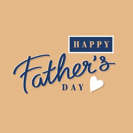 happy fathers day: happy mothers day hand lettering, postage stamp and postmark