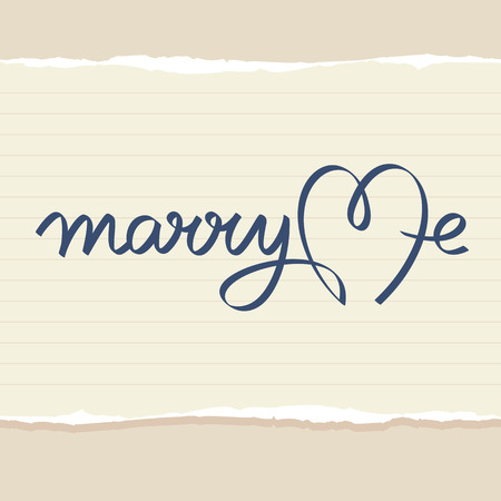 marry: marry me wedding hand lettering handmade calligraphy